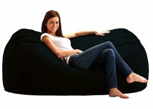 Big Joe Media Black Lounger Bean Bag Chairs For Adults