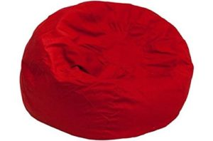 Oversized Solid Red Bean Bag Chairs For Adults