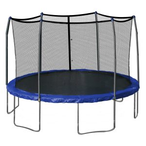 Skywalker Trampolines 15-Feet Round Trampoline and Enclosure with Spring Pad, for family