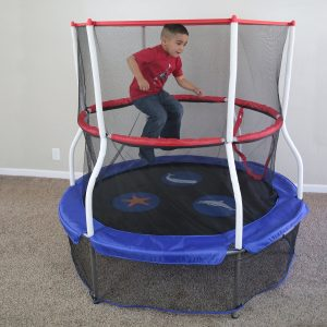 Skywalker Trampolines 60 Inch Round Seaside Adventure Bouncer with Enclosure, for kids