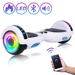 Two-Wheel Self Balancing Hoverboard with Bluetooth Speaker and LED Lights Electric Scooter